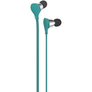 AT&T(R) Jive Noise-Isolating Earbuds with Microphone (Turquoise) EBM01-TURQUOISE