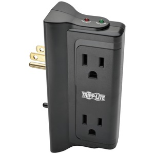 TRIPP LITE(R) Protect It!(R) Surge Protector with 4 Side-Mounted Outlets TLP4BK