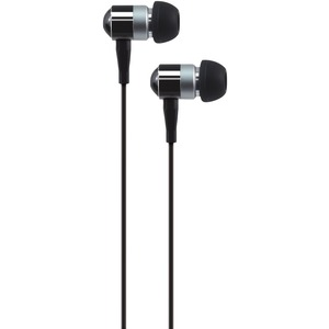 AT&T(R) PEB02 In-Ear Aluminum Stereo Earbuds (Black) PEB02-BLK