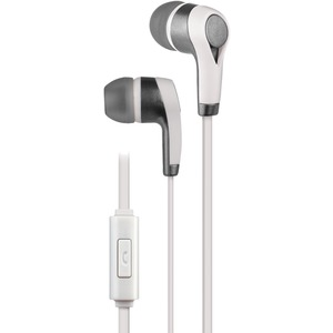 AT&T(R) PE10 In-Ear Stereo Earbuds with Microphone (White) PE10-WHT