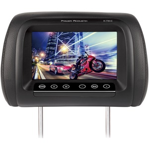 POWER ACOUSTIK(R) 7 inch. LCD Universal Replacement Headrest Monitor with IR Transmitter & 3 Interchangeable Color Skins H-78CC
