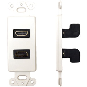 DATACOMM ELECTRONICS Dcor Wall Plate Insert with 90 Degree Dual HDMI(R) Connector 20-4502-WH