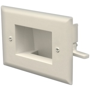DATACOMM ELECTRONICS Easy-Mount Recessed Low-Voltage Cable Plate (Ivory) 45-0008-IV