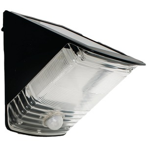 MAXSA INNOVATIONS Solar-Powered Motion-Activated Wedge Light (Black) 40236