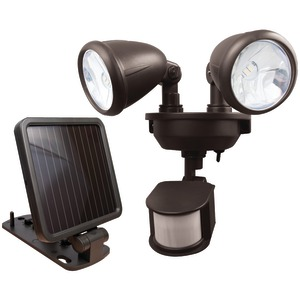 MAXSA INNOVATIONS Dual-Head Solar Spotlight (Dark Bronze) 44216