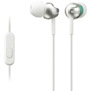 EX Monitor In-Ear Headphones with Microphone (White)