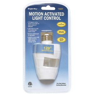 BRIGHT-WAY Motion Activated 120 Degree Indoor Light 74237
