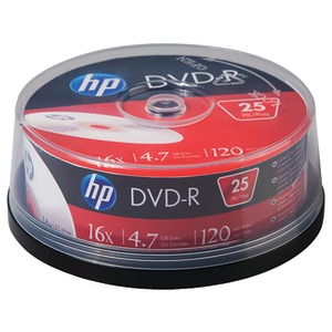 HP 4.7GB 16x DVD-Rs 25-ct Cake Box Spindle DM16025CB