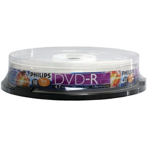 PHILIPS 4.7GB 16x DVD-Rs (10-ct Cake Box Spindle) DM4S6B10F/17