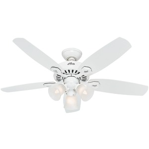 HUNTER 42 Inch. White Small Room Ceiling Fan 52105