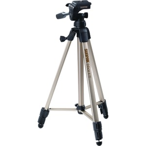 SUNPAK Tripod with 3-Way Pan Head (Folded height: 20.3 Inch.; Extended height: 58.32 Inch.; Weight: 2.8lbs; Includes 2nd quick-release plate) 620-060