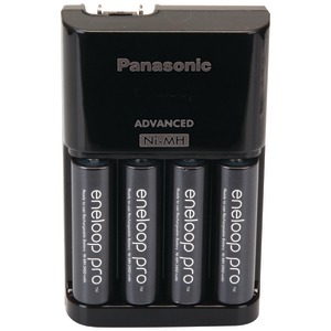 PANASONIC 4-Position Charger with eneloop(R) XX AA Batteries 4 pk K-KJ17KHCA4A