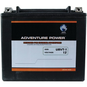 UBVT-1 Sealed AGM V-Twin Power Sports Battery