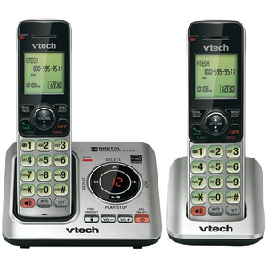 VTECH DECT 6.0 Expandable Speakerphone with Caller ID (2-Handset System) VTCS6629-2