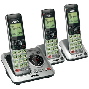 VTECH DECT 6.0 Expandable Speakerphone with Caller ID (3-Handset System) VTCS6629-3