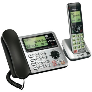 VTECH DECT 6.0 Speakerphone with Corded Base (Single-Handset System) VTCS6649