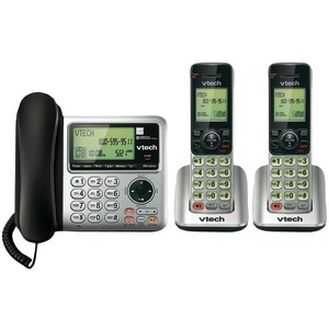 DECT 6.0 Speakerphone with Corded Base (2-Handset System)