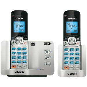 DECT 6.0 Connect-to-Cell 2-Handset Cordless Phone System with Caller ID-Call Waiting