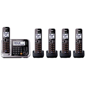 DECT 6.0 Link-to-Cell Bluetooth(R) Cordless Phone System (5-Handset System)