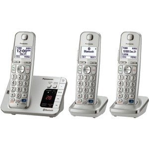 PANASONIC DECT 6.0 Link-to-Cell Bluetooth(R) Phone System (3-Handset System) KX-TGE263S
