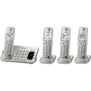 PANASONIC DECT 6.0 Link-to-Cell Bluetooth(R) Phone System (4-Handset System) KX-TGE274S