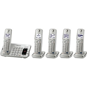 PANASONIC DECT 6.0 Link-to-Cell Bluetooth(R) Phone System (5-Handset System) KX-TGE275S