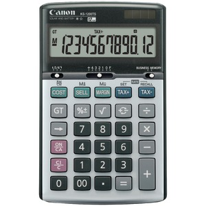 CANON KS1200TS Solar & Battery-Powered 12-Digit Calculator 8508A013