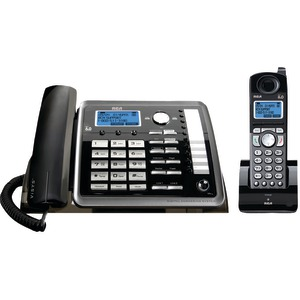 RCA 2-Line Corded-Cordless Expandable Phone with Caller ID & Answerer 25255RE2