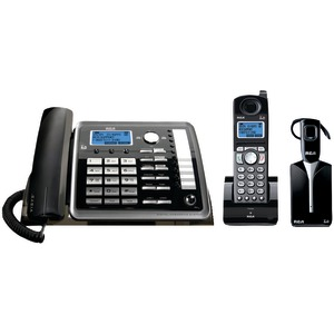 RCA 2-Line Expandable Corded-Cordless-Headset Phone System with Caller ID & Answerer 25270RE3