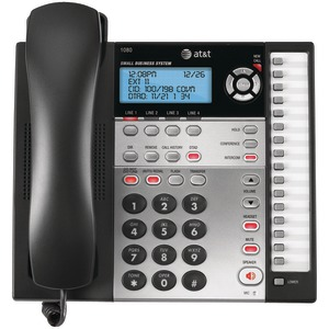 ATT 4-Line Speakerphone with Answering System Caller ID & Audio Attendant 1080