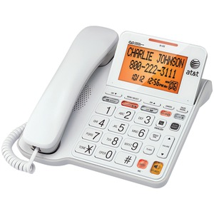 ATT Corded Phone with Answering System & Large Tilt Display CL4940