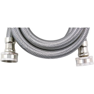 Braided Stainless Steel Washing Machine Connector (8-ft ohm Inch. ID)