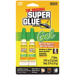 Thick Gel Super Glue Tubes (Double Pack)