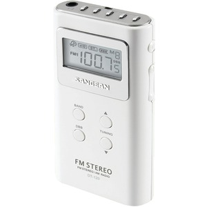 SANGEAN Pocket AM-FM Digital Radio (White) DT-120 WHITE