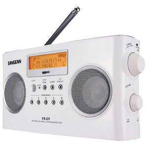 SANGEAN Digital Portable Stereo Receiver with AM-FM Radio (White) PRD5