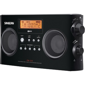 SANGEAN Digital Portable Stereo Receiver with AM-FM Radio (Black) PR-D5-BK