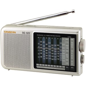 SANGEAN 12-Band Compact World Band Receiver with LED SG622