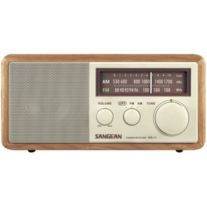 SANGEAN Wood Cabinet AM-FM Tabletop Radio WR11
