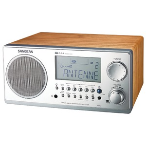 Digital AM-FM Stereo System with LCD & Alarm Clock (Walnut)