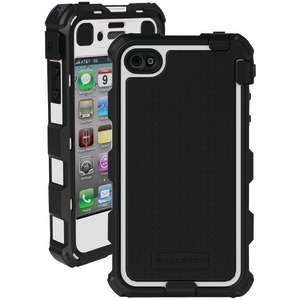 iPhone(R) 4-4S Hard Core(R) Case with Holster (White-Black)