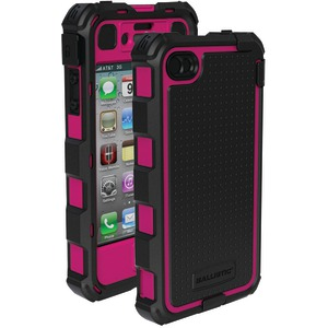 iPhone(R) 4-4S Hard Core(R) Case with Holster (Hot Pink-Black)