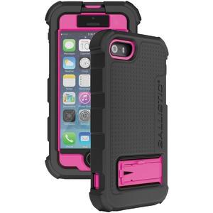iPhone(R) 5-5s Hard Core(R) Series Case with Holster (Black-Pink)