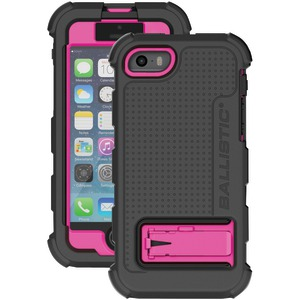 iPhone(R) 5-5s Hard Core(R) Case with Holster (Black-Hot Pink)