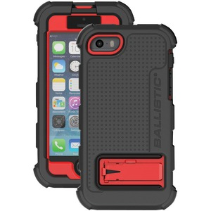 iPhone(R) 5-5s Hard Core(R) Case with Holster (Black-Red)