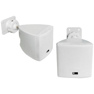 Mini Cube Speaker with Wall Bracket (White)