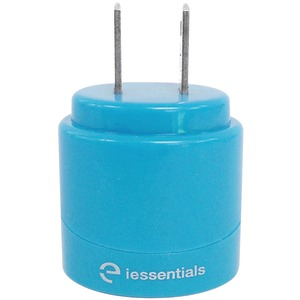 IESSENTIALS 2.1-Amp Dual USB Home Charger (Blue) IE-ACP2U-BL
