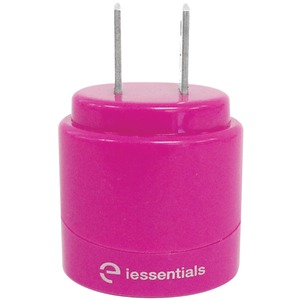 IESSENTIALS 2.1-Amp Dual USB Home Charger (Pink) IE-ACP2U-PK
