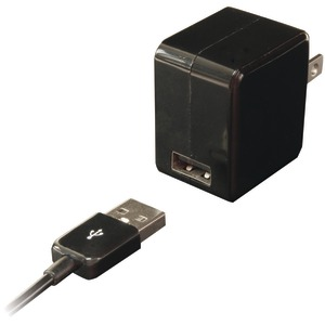 IESSENTIALS USB Wall Charger with USB 30-Pin Cable IPL-AC-BK