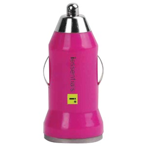 IESSENTIALS iPhone(R)-iPod(R)-Smartphone 1-Amp USB Car Charger (Pink) IE-PCPUSB-PK