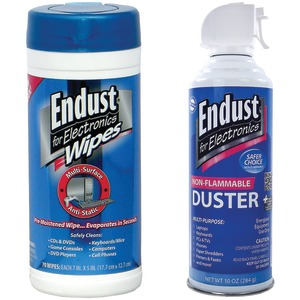 ENDUST 2 Pack Kit: Electronics Duster & Anti-static Pop-up Wipes NOZDUST70KIT
